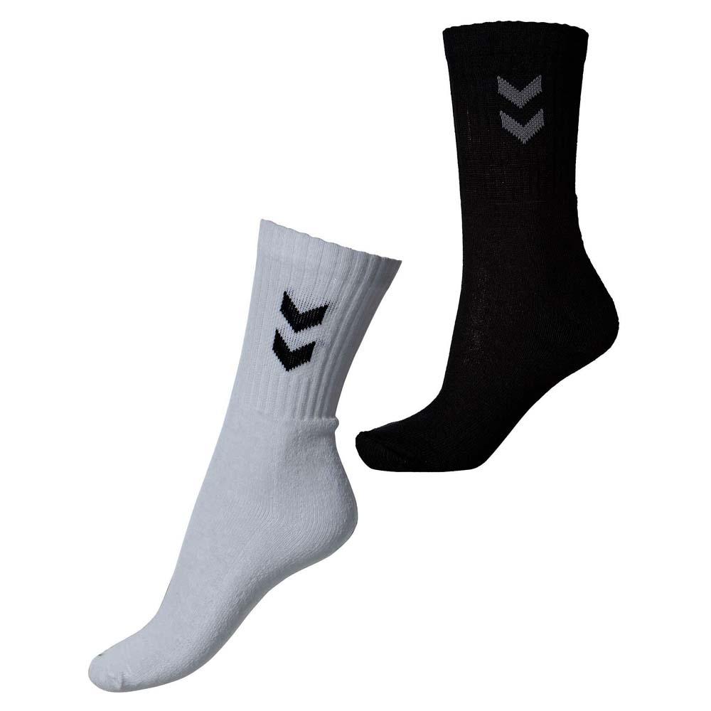 c0386df5309 Hummel 3 pak strømper sorte eller hvide - køb gode billige sokker